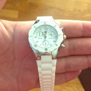 Michele watch with jelly strap